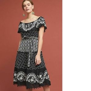 Anthropologie Marisol Off-The-Shoulder Dress
